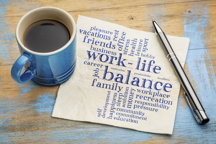 work life balance word cloud